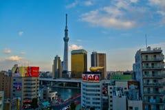 Tokyo stadssikt från Asakusa Royaltyfri Bild