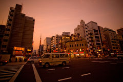 Tokyo-Stadt an der Dämmerung Lizenzfreies Stockbild