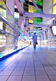 Tokyo-Stadt an der Nachtzeit auf Brücke lizenzfreie stockbilder