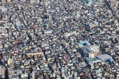 Tokyo-Stadtbild, das städtischen Stadtstadt-Bezirk errichtet stockbild