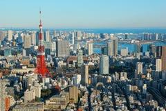 Tokyo-Stadtbild mit Tokyo-Turm, Japan Stockbilder
