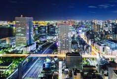 Tokyo-Stadtbild nachts Stockbild