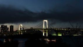 Tokyo-Stadtskylineansicht von der Odaiba-Zeitspanne stock video