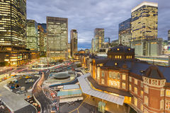 Tokyo station aerial view with office building background Royalty Free Stock Photos