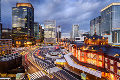 Tokyo Station Cityscape Stock Image