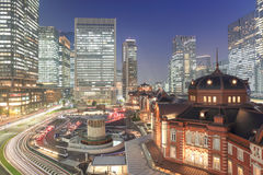 Tokyo station at dusk Stock Photography