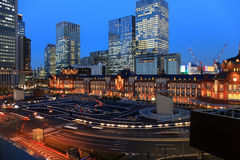 Tokyo Station at dusk Stock Image