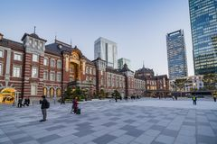 Tokyo station evening light Chiyoda Royalty Free Stock Photography