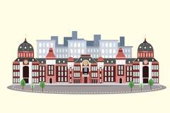 Tokyo station i vinter vektor illustrationer