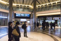 Tokyo station interior with travellers Stock Image