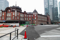 Tokyo station Japanese transportation building in Tokyo Japan on March 31, 2017 Royalty Free Stock Photography