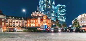 Tokyo Station illuminated at night Royalty Free Stock Photography