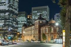 Tokyo-Station nght Licht Chiyoda Lizenzfreies Stockbild