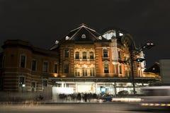 Tokyo station at night royalty free stock image