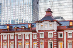 Tokyo Station. A railway station in the Marunouchi business district of Chiyoda , Tokyo , Japan.  is the main intercity rail terminal in Tokyo and busiest Royalty Free Stock Photo