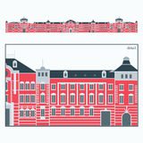 Tokyo Station. Vector illustration of the Tokyo Station Royalty Free Stock Photography