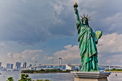 Tokyo Statue of Liberty. A picture of a 30ft replica of the statue of Liberty located on Odabai island in Tokyo, Japan Stock Images