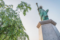 Tokyo Statue of Liberty in Daiba.  Royalty Free Stock Photo