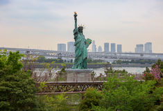 Tokyo. The statue of Liberty in Odaiba. Royalty Free Stock Image