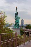 Tokyo. The statue of Liberty in Odaiba. Royalty Free Stock Images