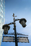 Tokyo street lamps Royalty Free Stock Photography