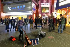 Tokyo :Street performer Royalty Free Stock Photos