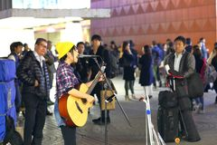 Tokyo :Street performer Royalty Free Stock Photography