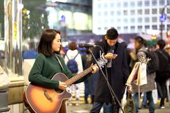 Tokyo :Street performer Royalty Free Stock Image
