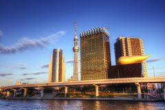 Tokyo at Sumida River Royalty Free Stock Image
