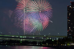 Tokyo Summer Fireworks Festival Royalty Free Stock Images