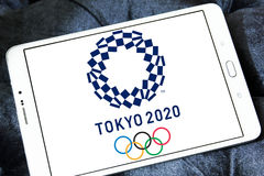 Tokyo 2020, Summer Olympics logo. Logo of Tokyo 2020, Summer Olympics on samsung tablet . Tokyo 2020 is a major international multi-sport event planned to be stock photography