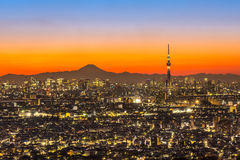 Tokyo Sunset Royalty Free Stock Photography