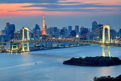 Tokyo & Sunset Royalty Free Stock Photography