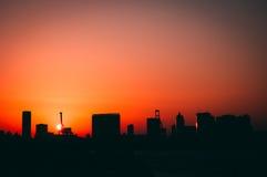 Tokyo at sunset Stock Image