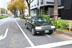 Tokyo: Taxi Royalty Free Stock Images
