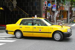 Tokyo Taxi Japan royalty free stock photography