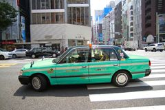 Tokyo Taxi Japan Stock Images