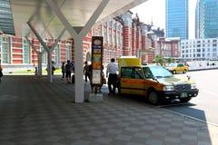 Tokyo: Taxi at Tokyo JR station Royalty Free Stock Images