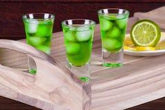 Tokyo Tea Cocktail. On a tray stock photos