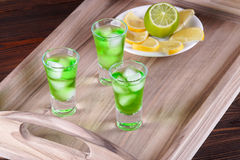 Tokyo Tea Cocktail. On a tray Stock Image