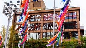 Tokyo torn på byggande exponeringsglas Arkivfoto