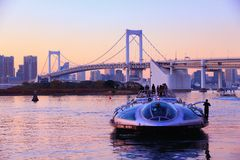 Tokyo tour boat Royalty Free Stock Image