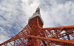 Tokyo Tower. Is a communications and observation tower located in Shiba Park, Minato, Tokyo, Japan. It has 332.5 metres and is the second tallest artificial Royalty Free Stock Photo