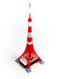 Tokyo tower. On a white background, 3d image Stock Photos