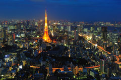 Tokyo tower. In Japan Asia Stock Image