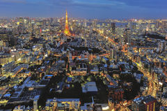 Tokyo tower. At night scene Stock Image