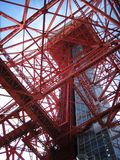 Tokyo Tower. The famous Tokyo Tower from underneath Stock Photos