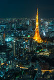 Tokyo tower blue night cityscape Stock Photography