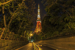 Tokyo tower from the bottom Royalty Free Stock Photo