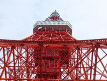Tokyo tower from bottom. From the bottom to see the Tokyo Tower Stock Photography